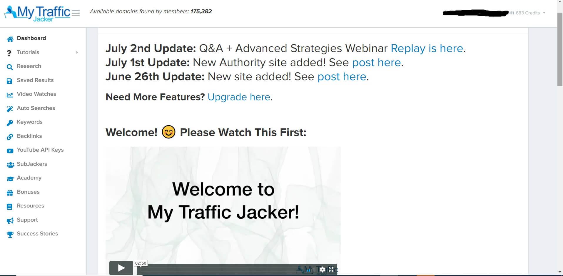 my traffic jacker 2.0 pro interface